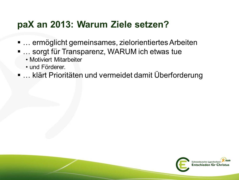 paX an 2013: Warum Ziele setzen