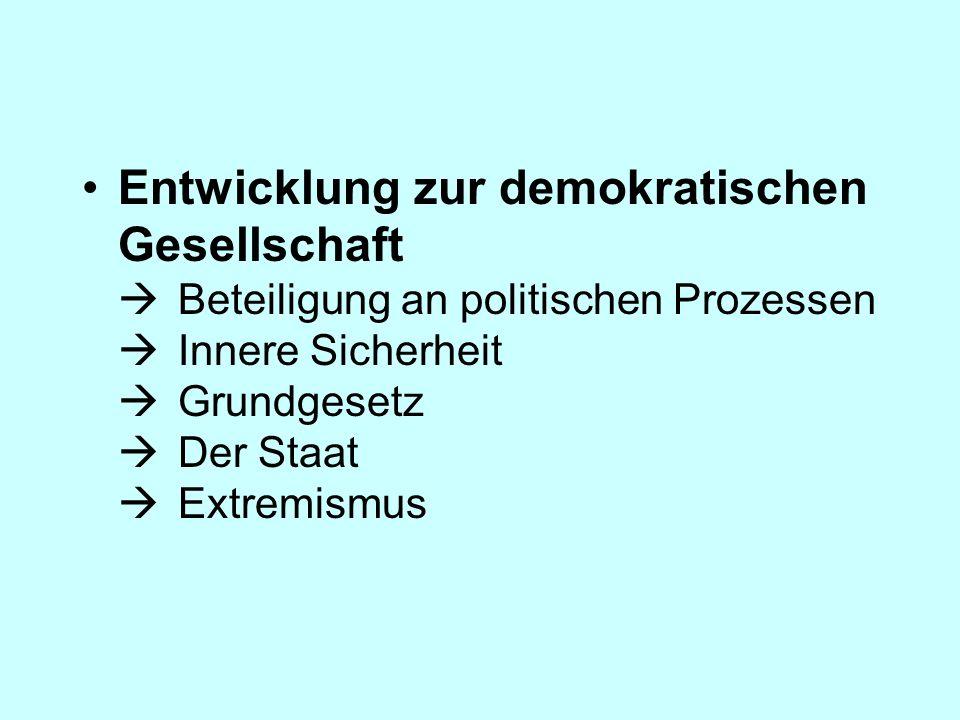 Entwicklung zur demokratischen Gesellschaft 