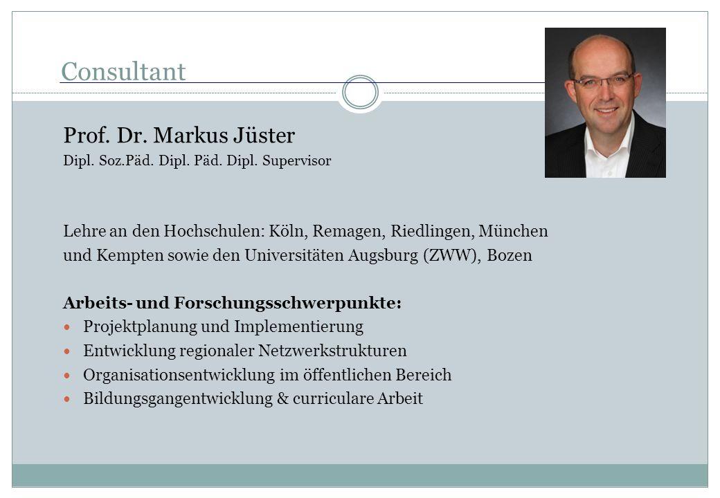 Consultant Prof. Dr. Markus Jüster