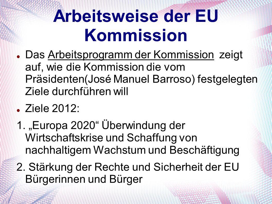 Arbeitsweise der EU Kommission
