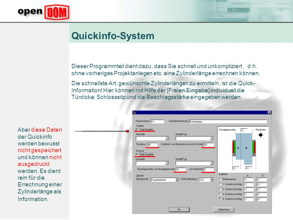 Quickinfo-System