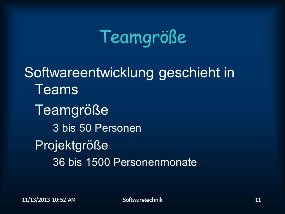 Teamgröße Softwareentwicklung geschieht in Teams Teamgröße