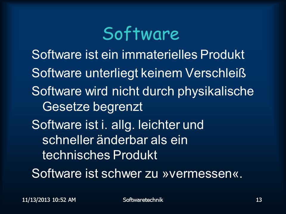 Software Software ist ein immaterielles Produkt