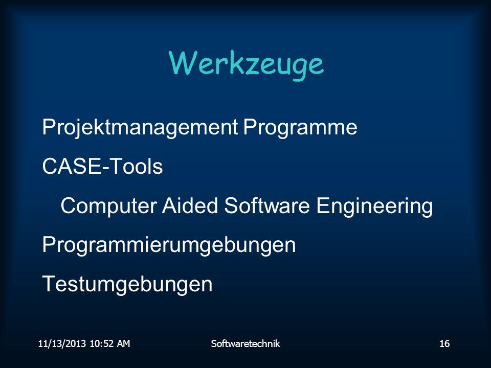 Werkzeuge Projektmanagement Programme CASE-Tools