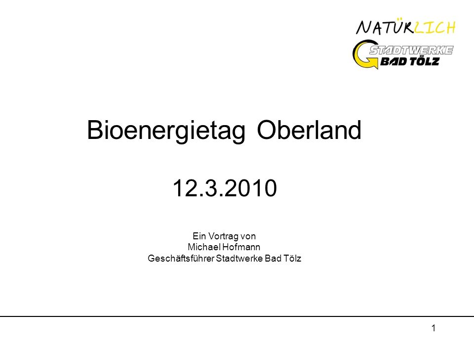 Bioenergietag Oberland