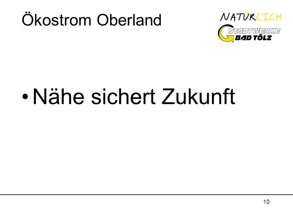 Ökostrom Oberland Nähe sichert Zukunft
