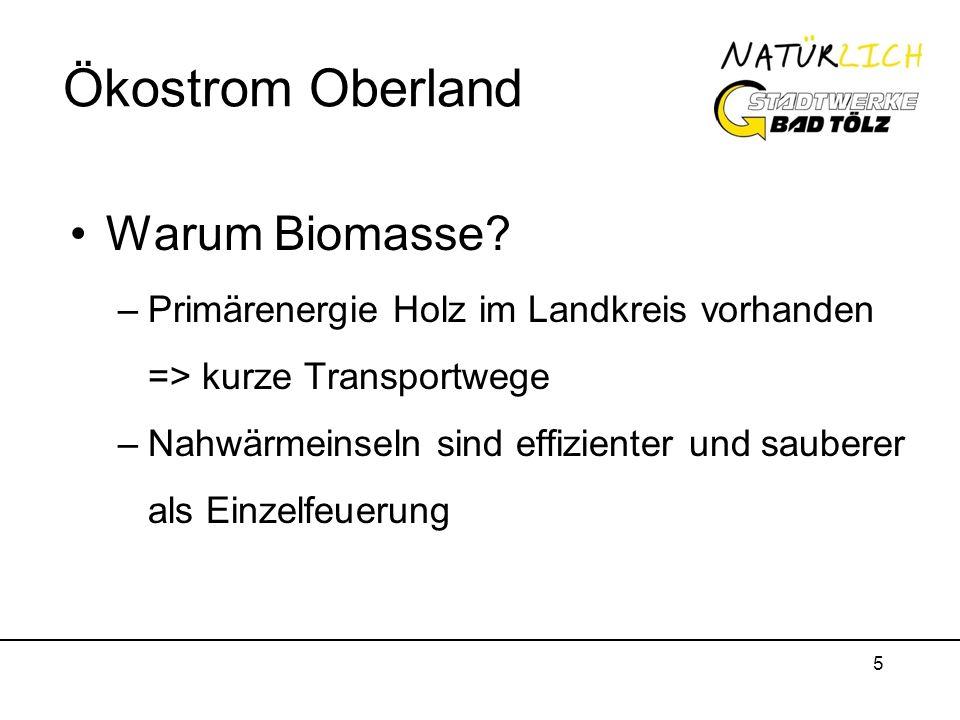 Ökostrom Oberland Warum Biomasse