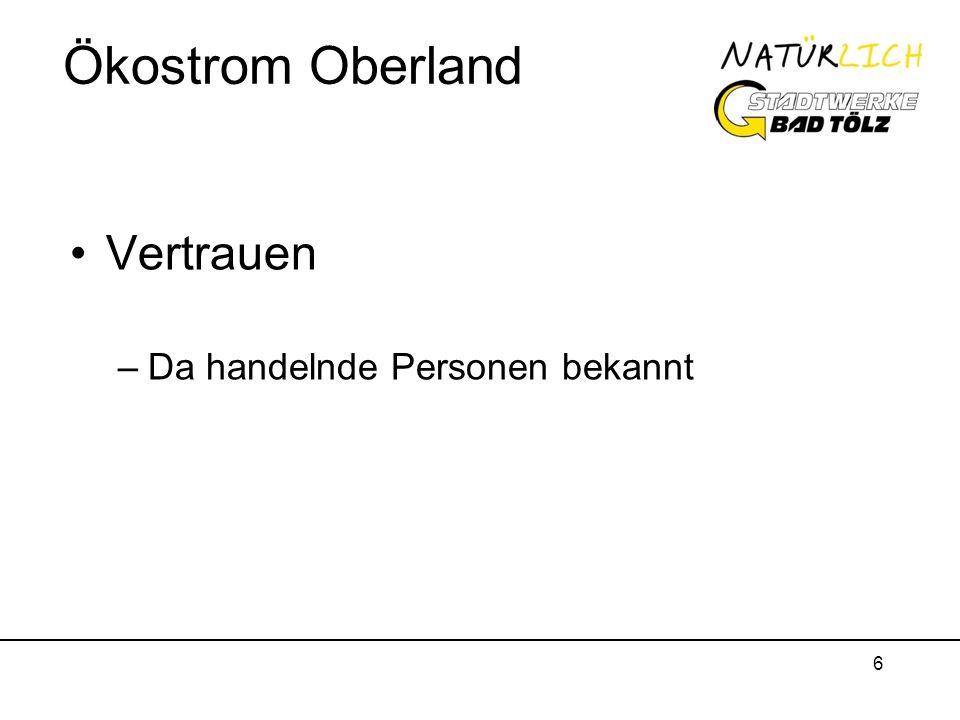 Ökostrom Oberland Vertrauen Da handelnde Personen bekannt
