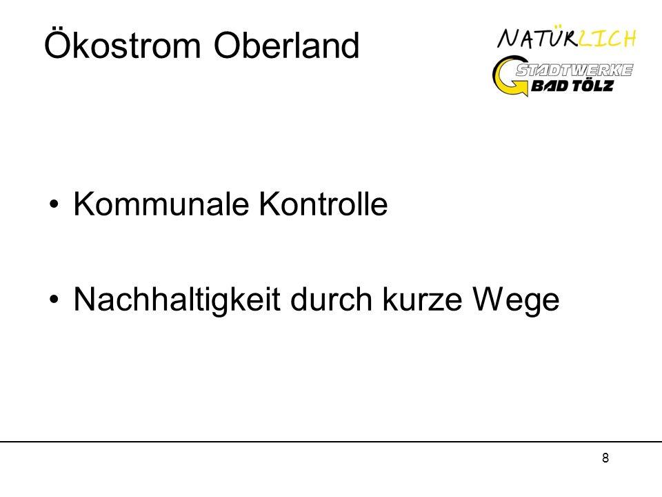 Ökostrom Oberland Kommunale Kontrolle Nachhaltigkeit durch kurze Wege
