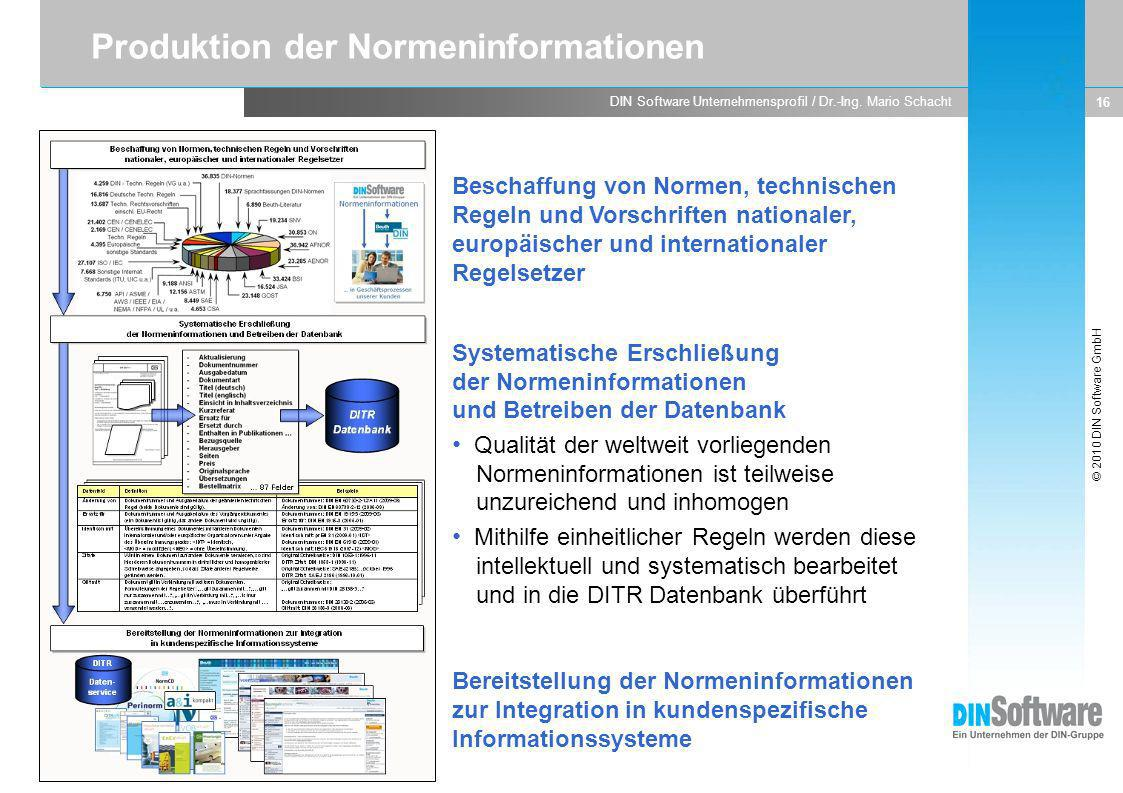 Produktion der Normeninformationen