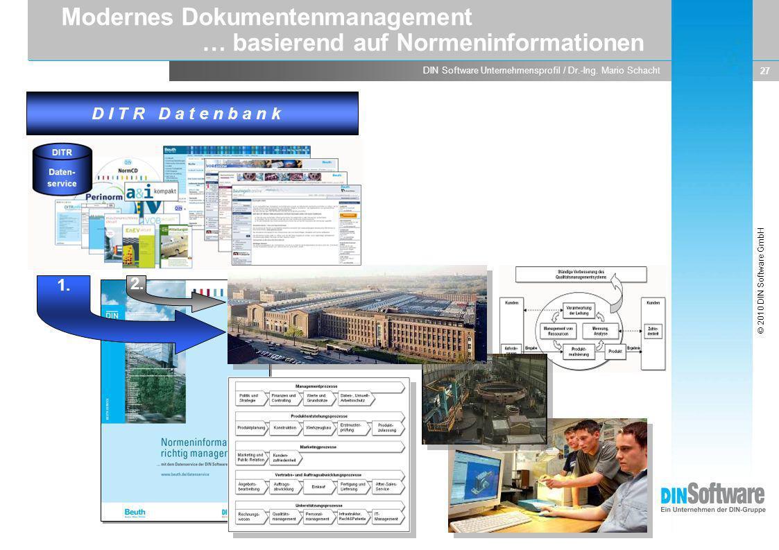 Modernes Dokumentenmanagement … basierend auf Normeninformationen