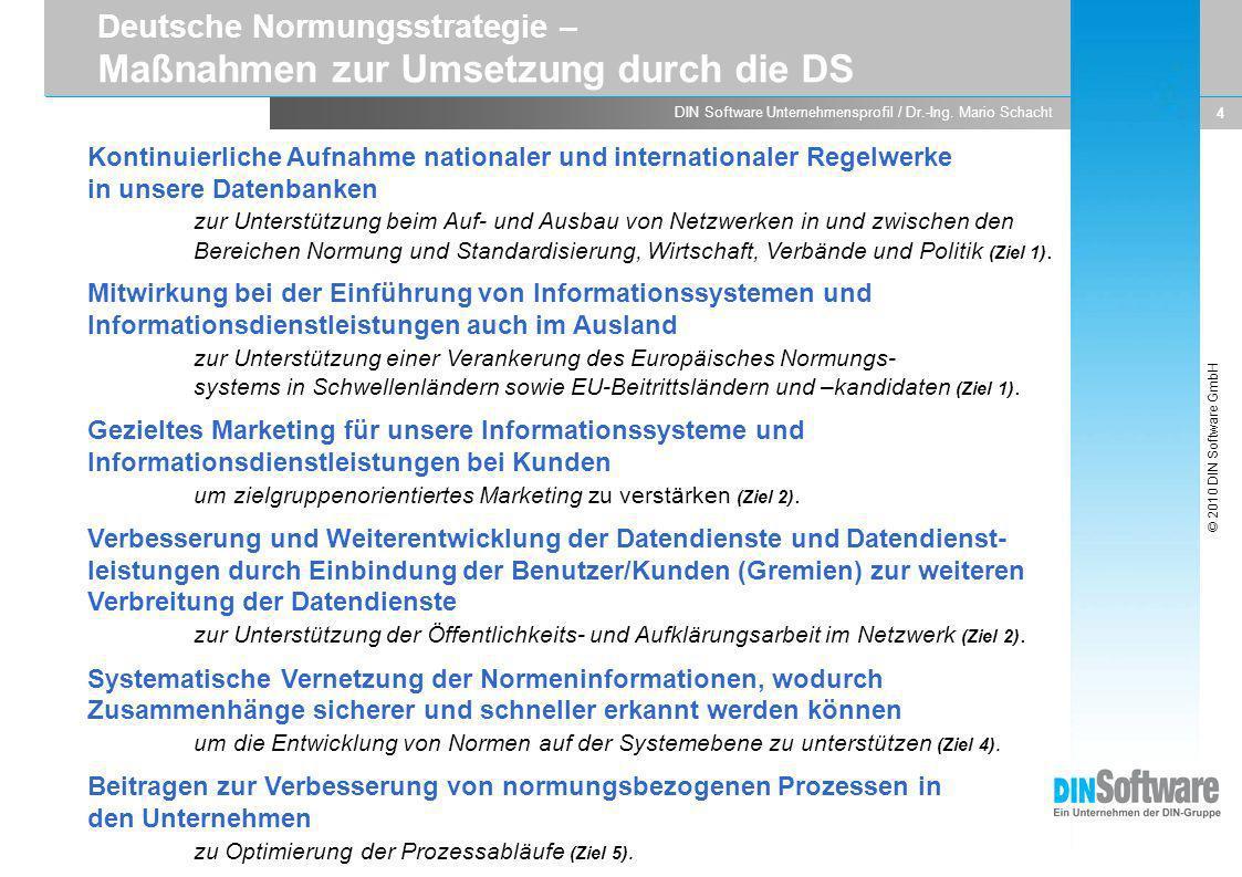 Deutsche Normungsstrategie – Maßnahmen zur Umsetzung durch die DS