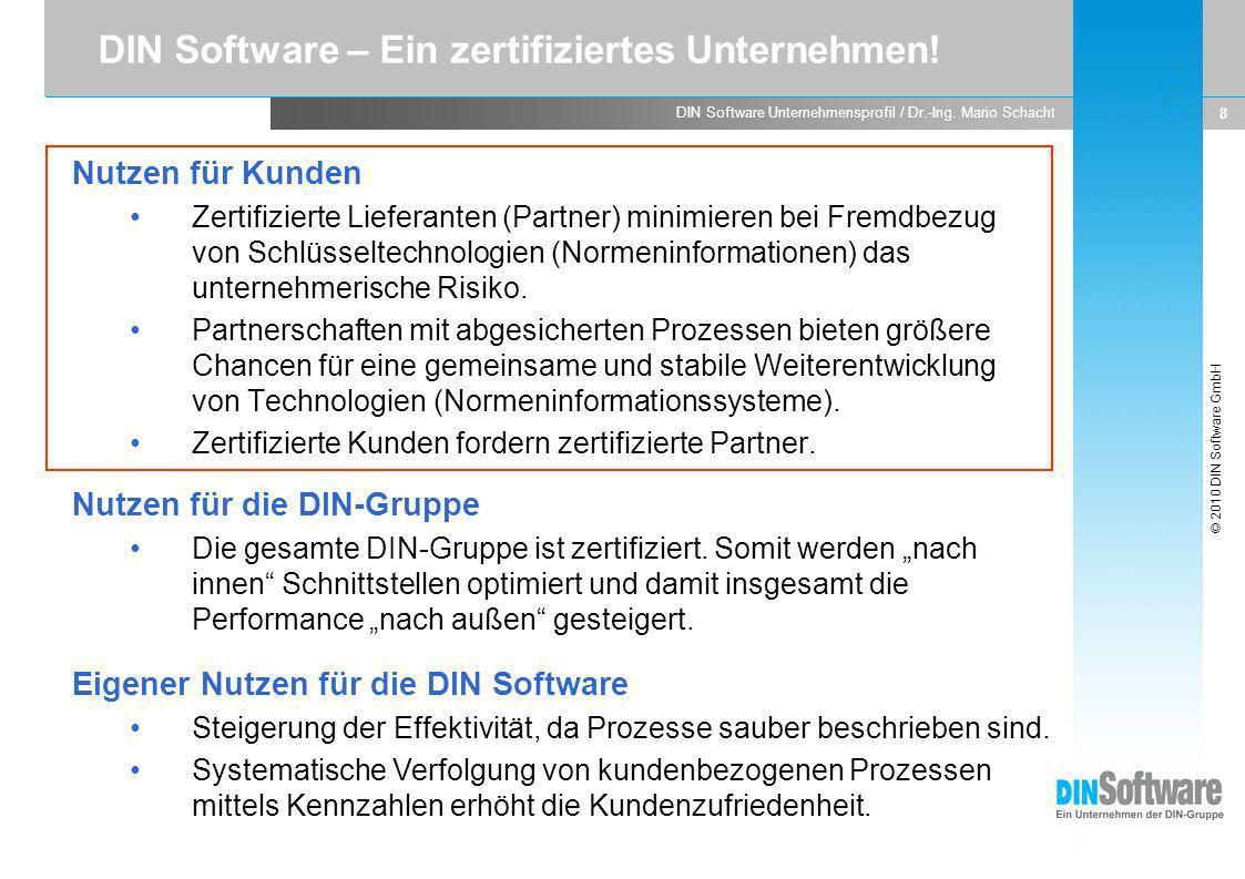 DIN Software – Ein zertifiziertes Unternehmen!