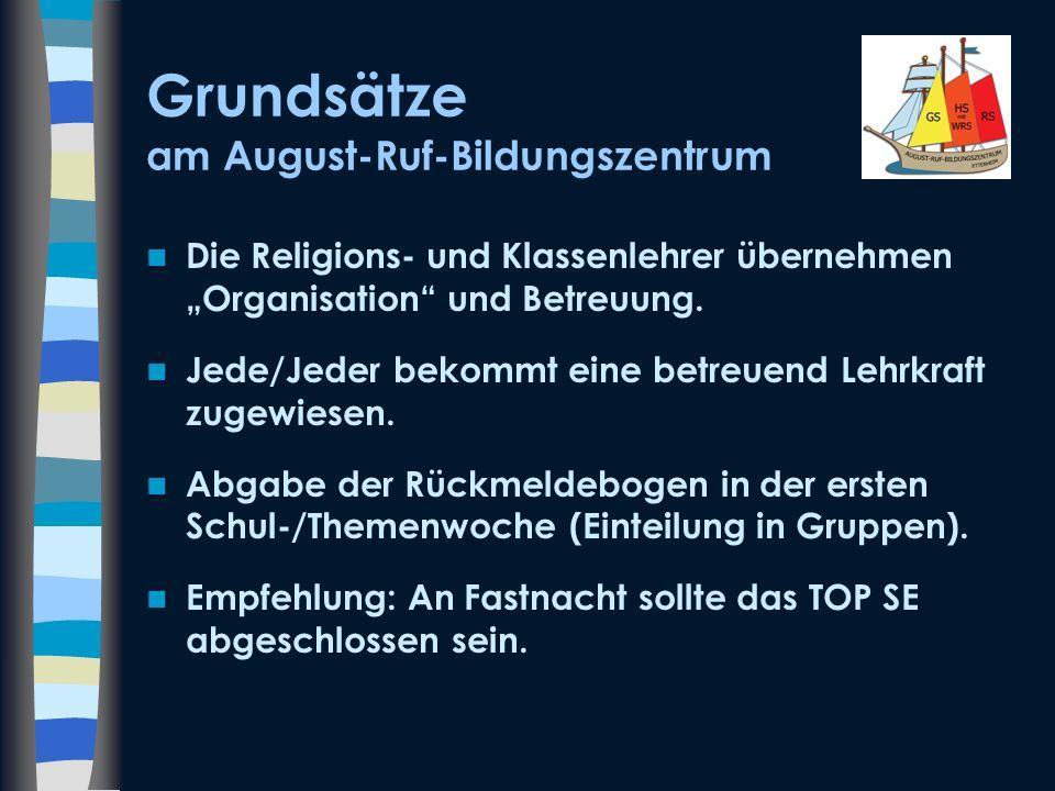 Grundsätze am August-Ruf-Bildungszentrum