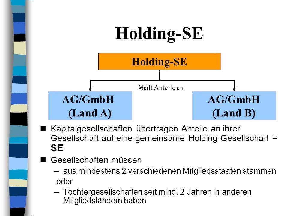 Holding-SE Holding-SE AG/GmbH (Land A) (Land B)