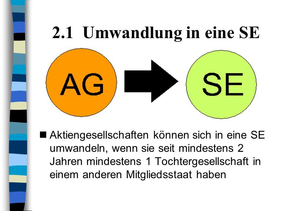 2.1 Umwandlung in eine SE