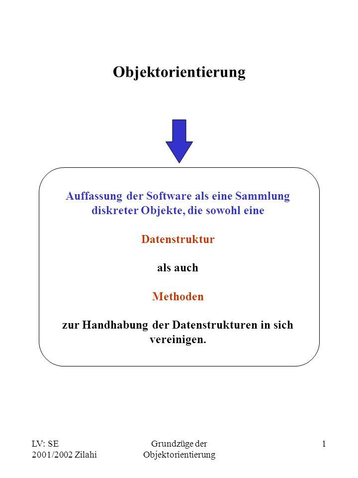 Objektorientierung Auffassung der Software als eine Sammlung