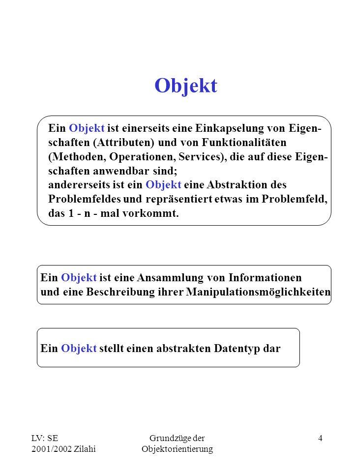 Grundzüge der Objektorientierung