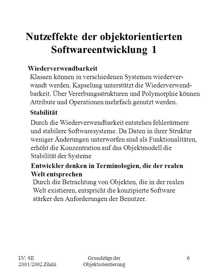 Nutzeffekte der objektorientierten Softwareentwicklung 1