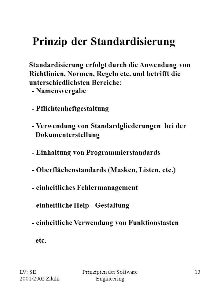 Prinzip der Standardisierung