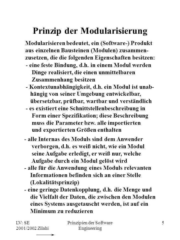 Prinzip der Modularisierung