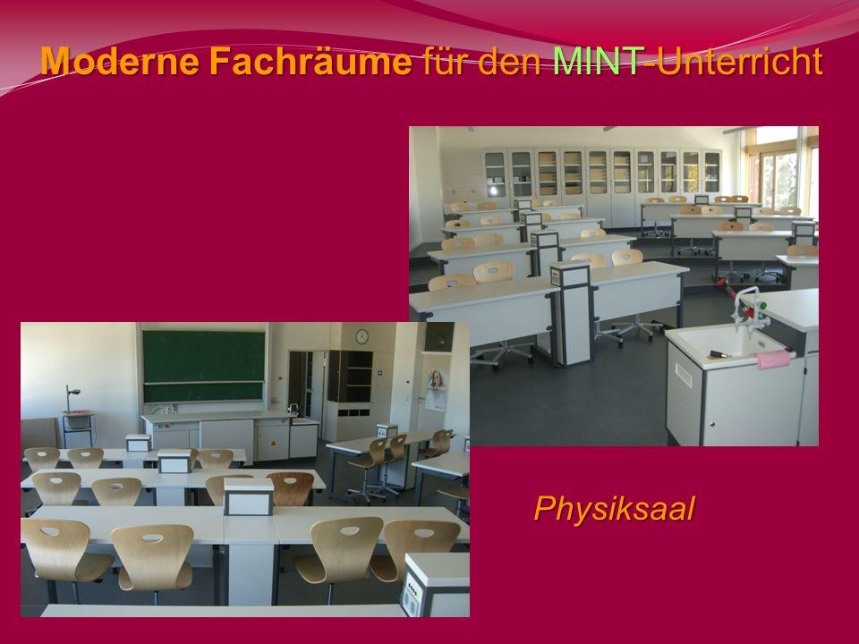 Moderne Fachräume für den MINT-Unterricht