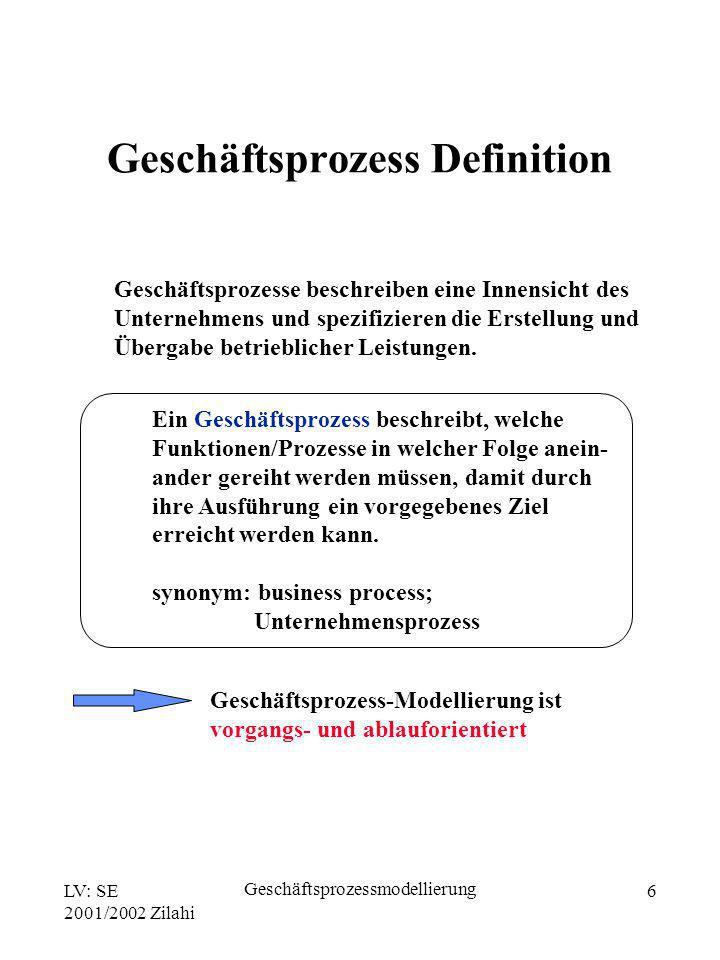 Geschäftsprozess Definition
