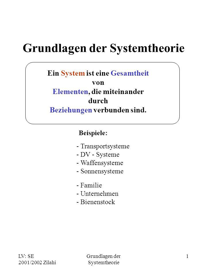 Grundlagen der Systemtheorie