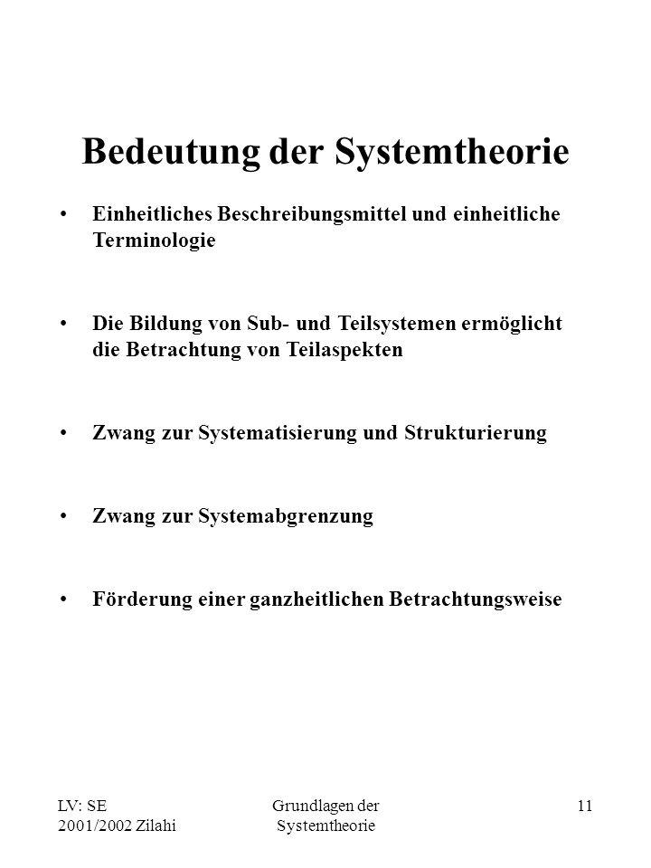Bedeutung der Systemtheorie