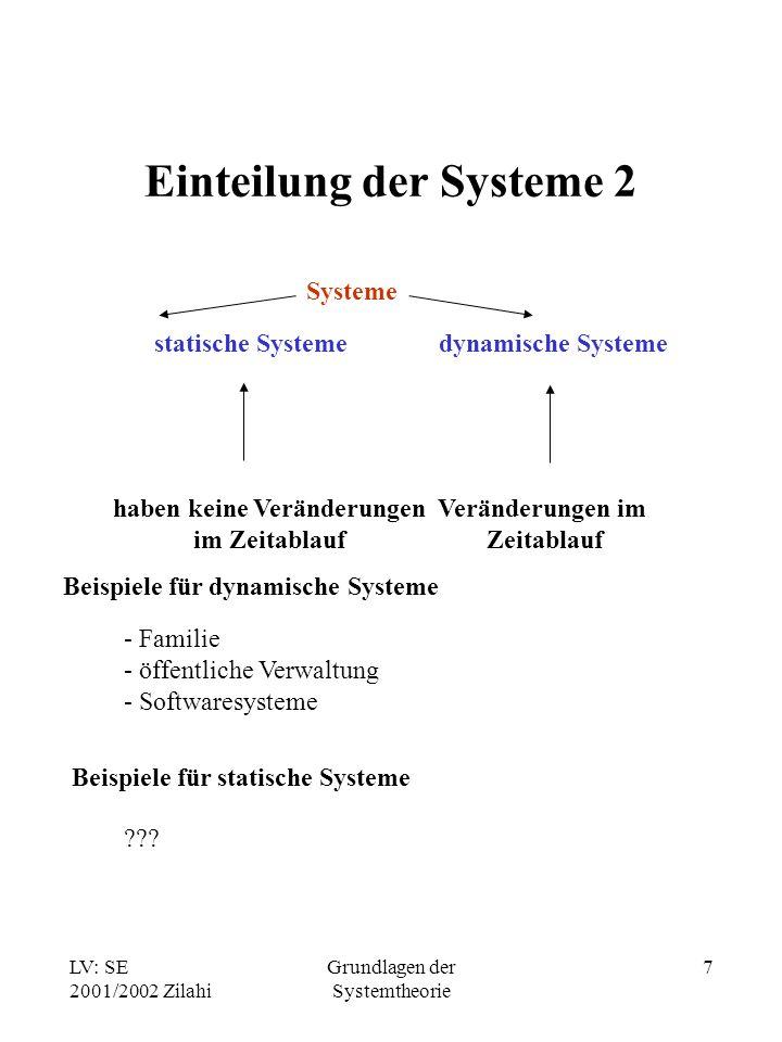 Einteilung der Systeme 2