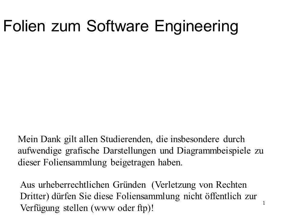 Folien zum Software Engineering