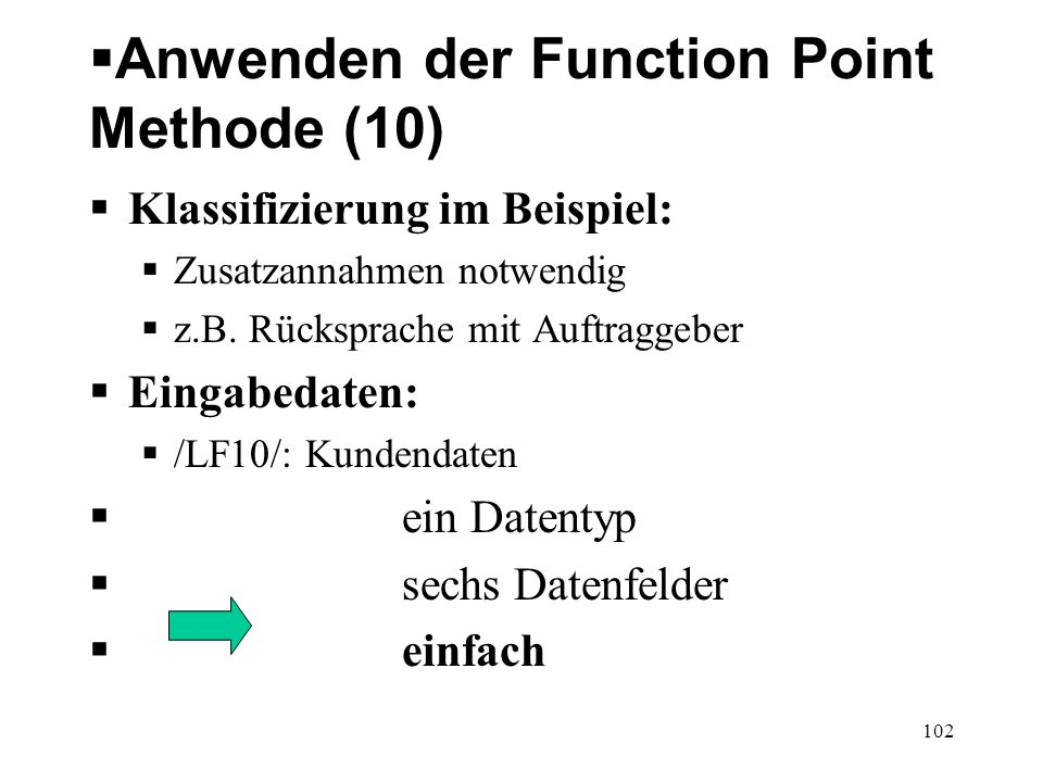 Anwenden der Function Point Methode (10)