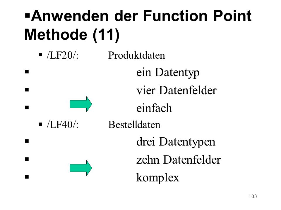 Anwenden der Function Point Methode (11)