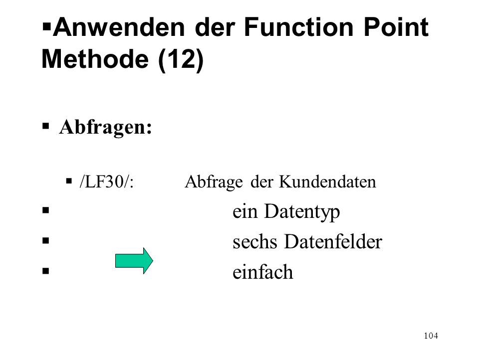 Anwenden der Function Point Methode (12)