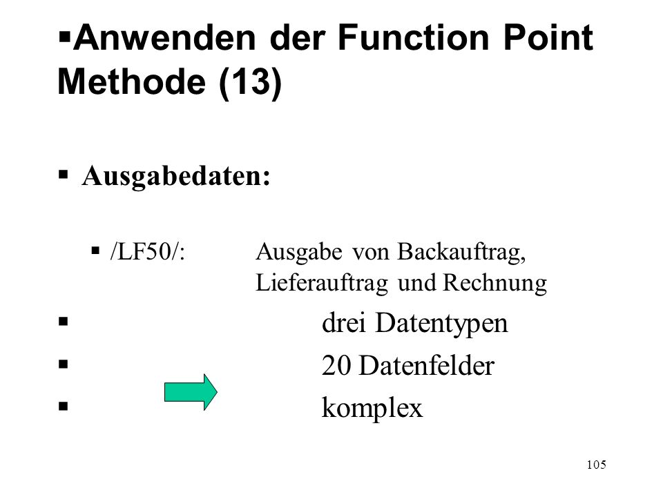 Anwenden der Function Point Methode (13)