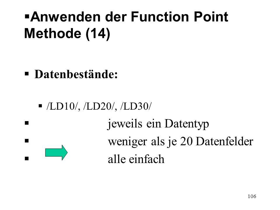 Anwenden der Function Point Methode (14)