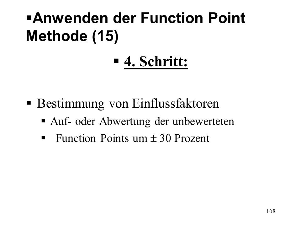 Anwenden der Function Point Methode (15)