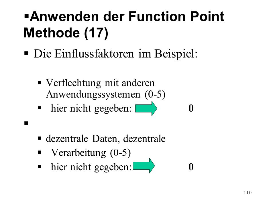 Anwenden der Function Point Methode (17)