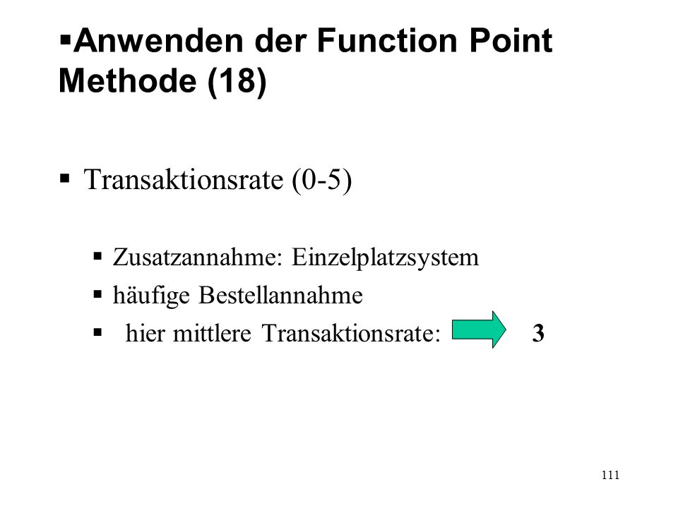Anwenden der Function Point Methode (18)