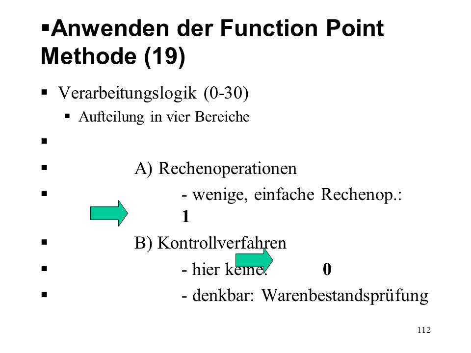 Anwenden der Function Point Methode (19)