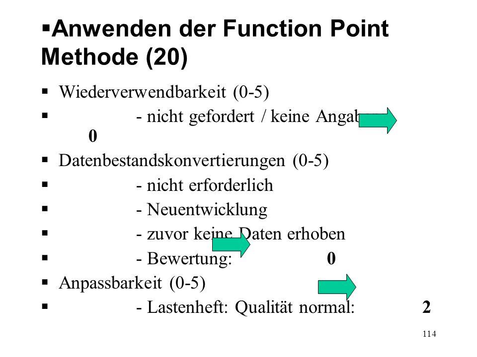Anwenden der Function Point Methode (20)