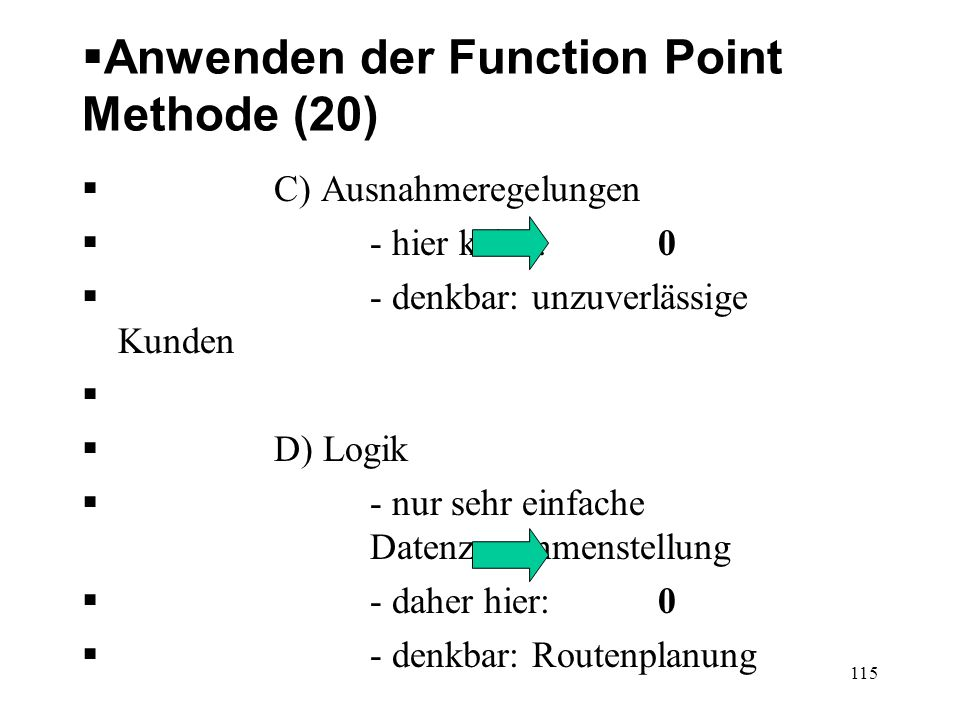 Anwenden der Function Point Methode (20)
