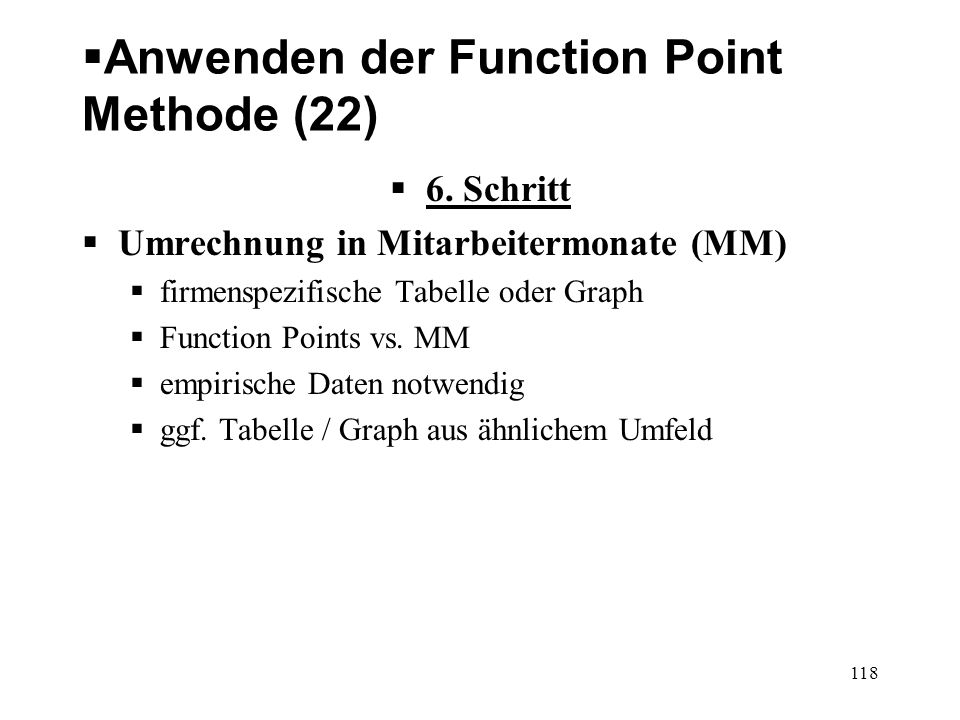 Anwenden der Function Point Methode (22)