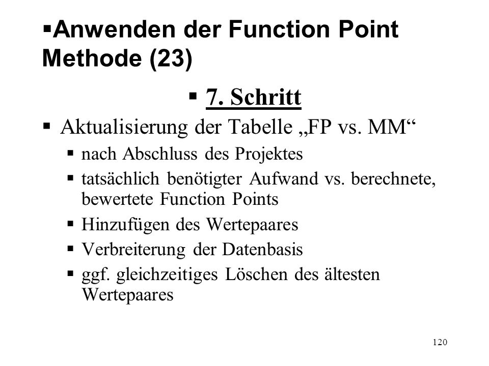 Anwenden der Function Point Methode (23)