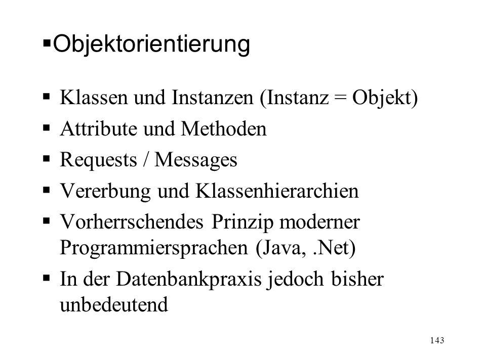 Objektorientierung Klassen und Instanzen (Instanz = Objekt)