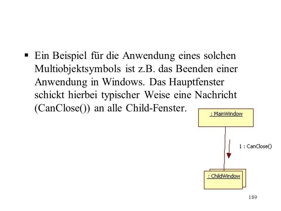 Ein Beispiel für die Anwendung eines solchen Multiobjektsymbols ist z