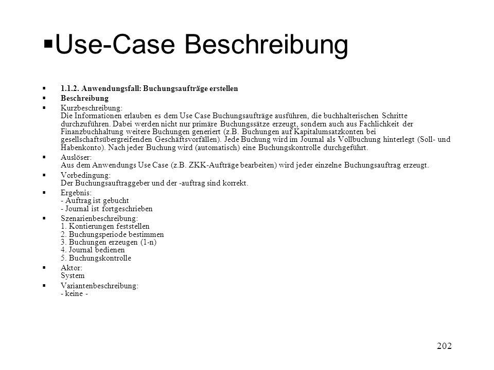 Use-Case Beschreibung