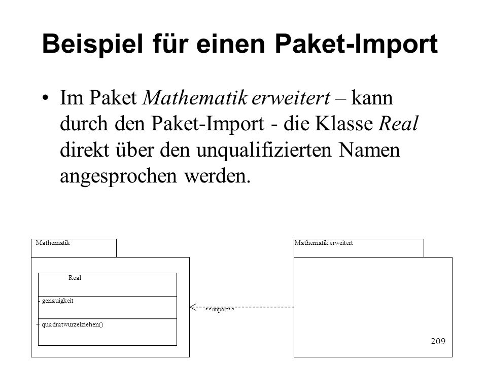 Beispiel für einen Paket-Import