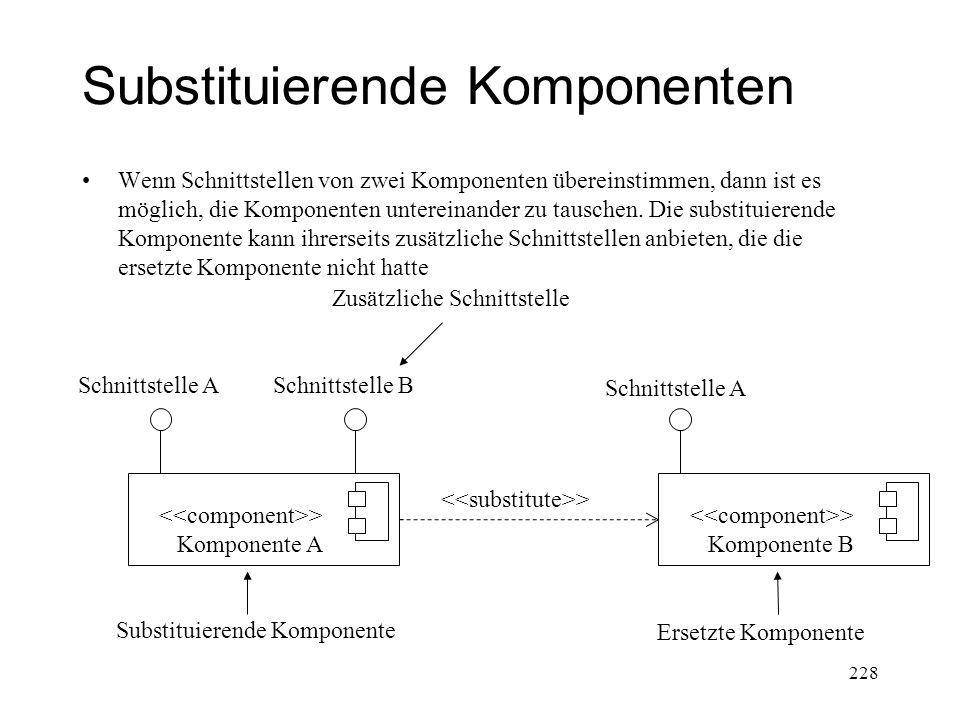 Substituierende Komponenten