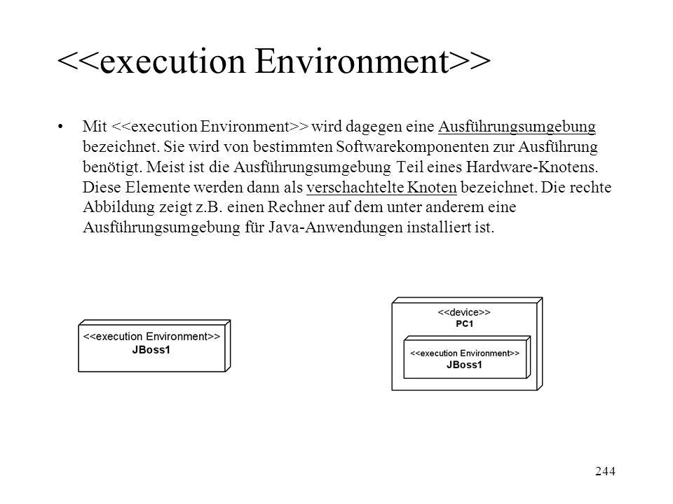 <<execution Environment>>